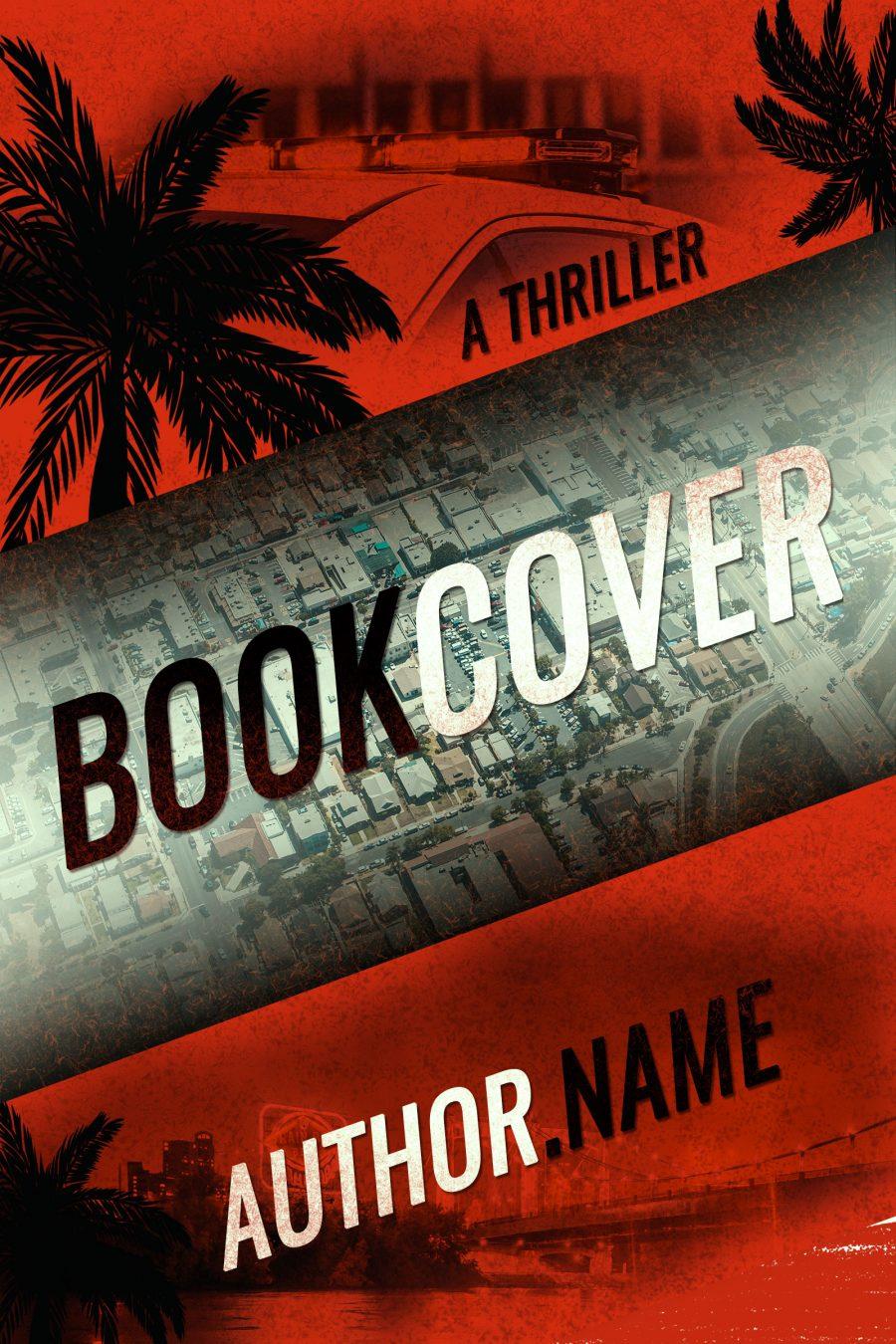 A thriller premade book cover made by pora's designs