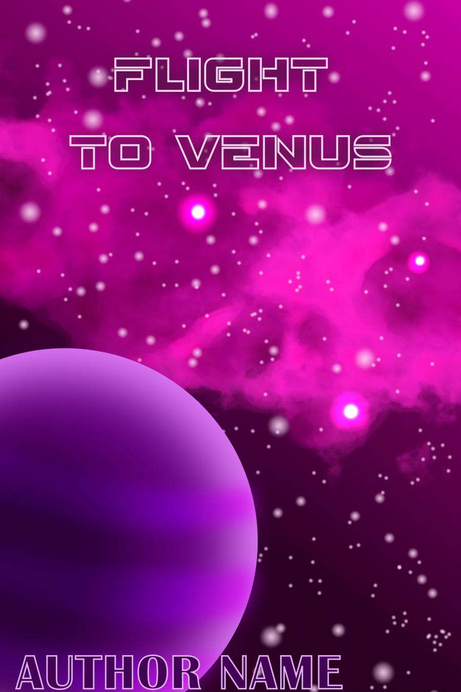 Premade space book cover